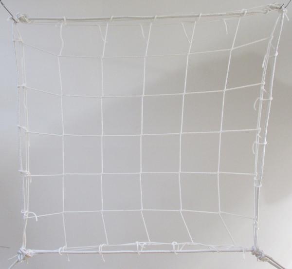 Védőháló, gépi fehér PP 13cm 4mm