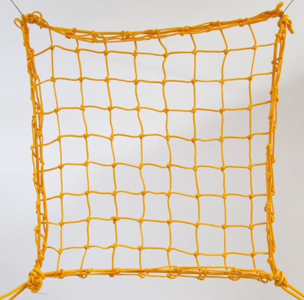 6cm 4mm polypropylene hand-knotted yellow