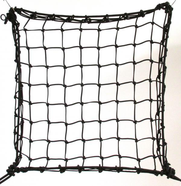 6cm 4mm polypropylene hand-knotted black