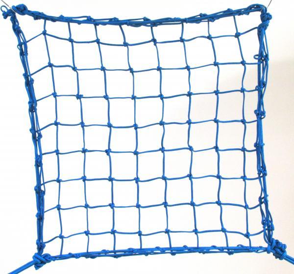 6cm 4mm polypropylene hand-knotted blue