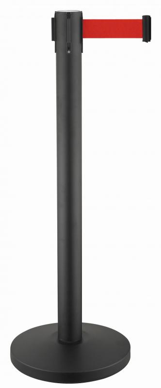 Retractable belt stanchion Minimal Black