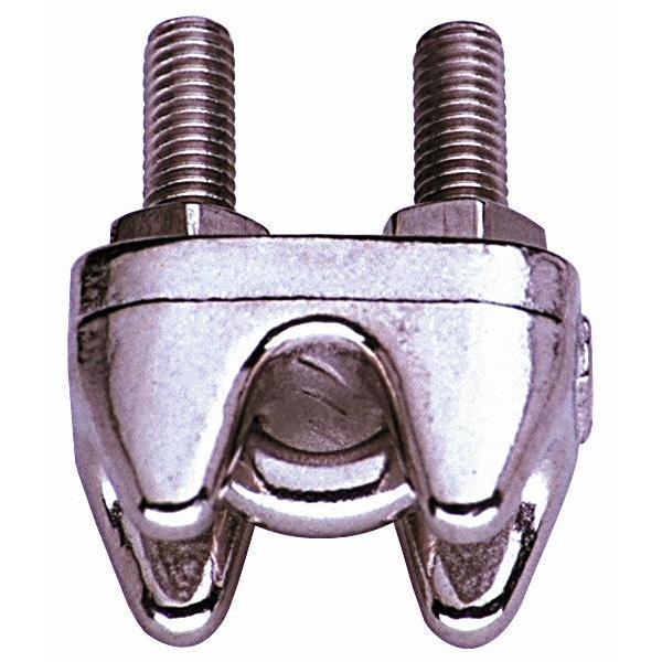Drótkötél-szorítóbilincs 4mm Horganyzottv kampó-szem