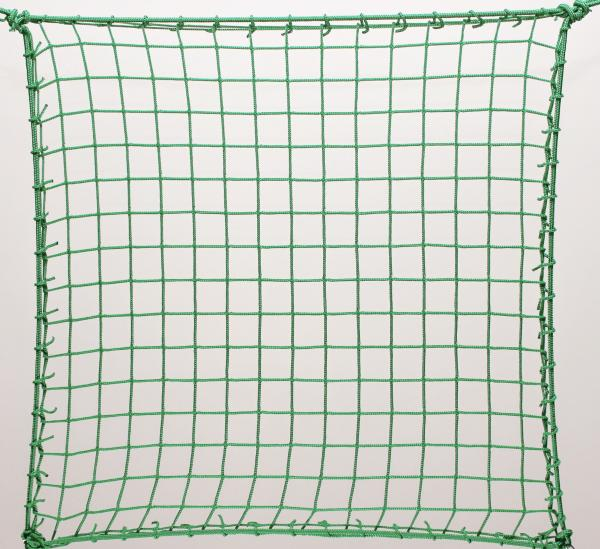 Protection net, PP 4,5cm 3mm green machine-made