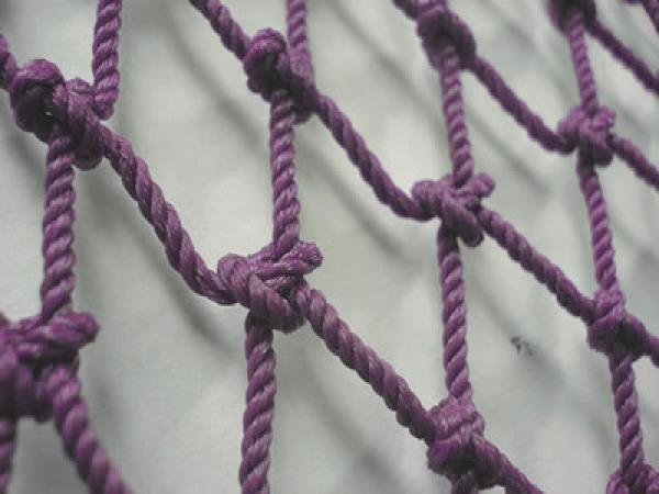 - Hand-knotted net
