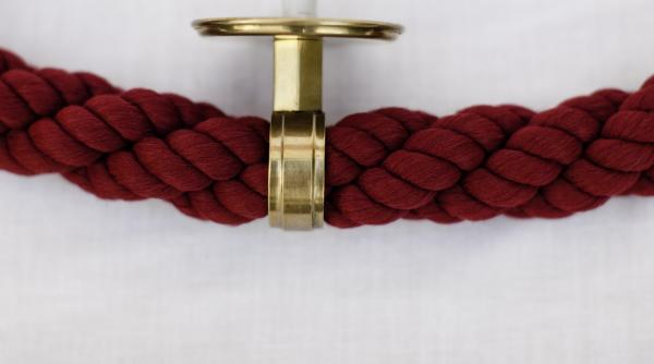 Wall stanchion rope conductor
