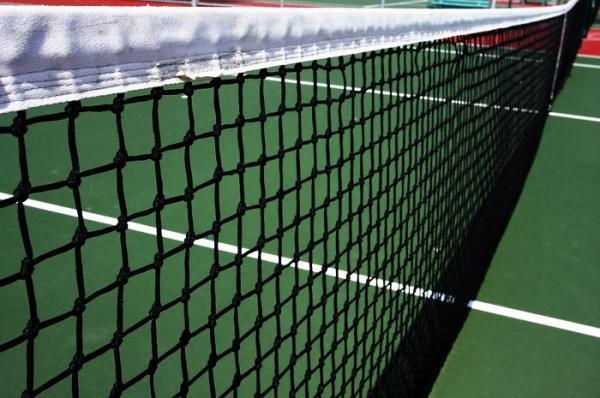 Tennis nets, doble row