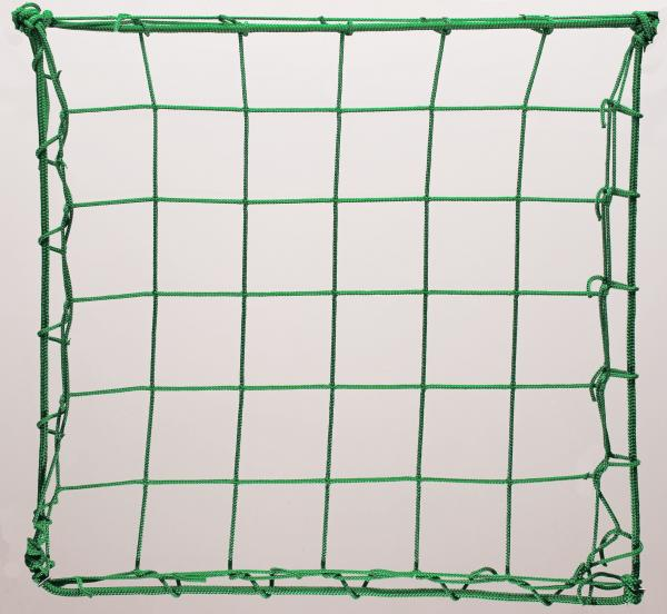 Protection net, PP 8cm 4mm green machine-made