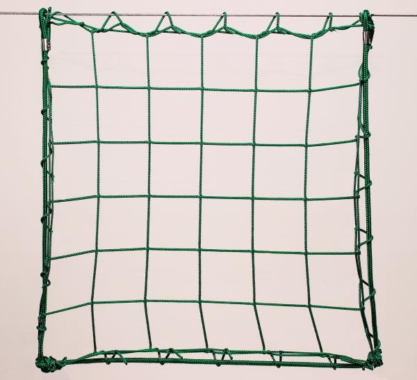 Protection net, PP 10cm 4mm green machine-made
