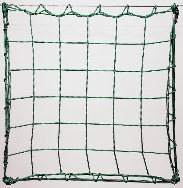 Protection net, PP 13cm 4mm green machine-made