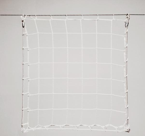 Védőháló, gépi fehér PP 8cm 4mm
