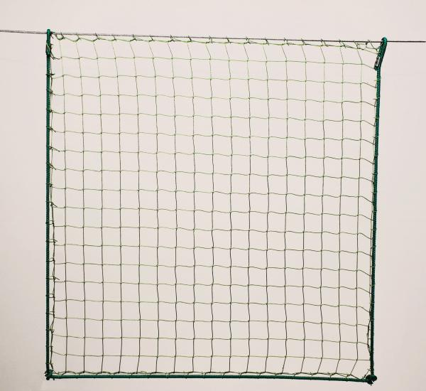 Protection net, PA 4cm 1,5mm green machine-made