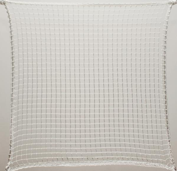 Protection net, PES 2cm 2mm white machine-made