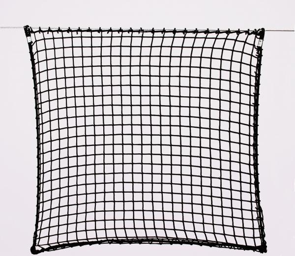 Protection net, PP 3cm 3mm black machine-made