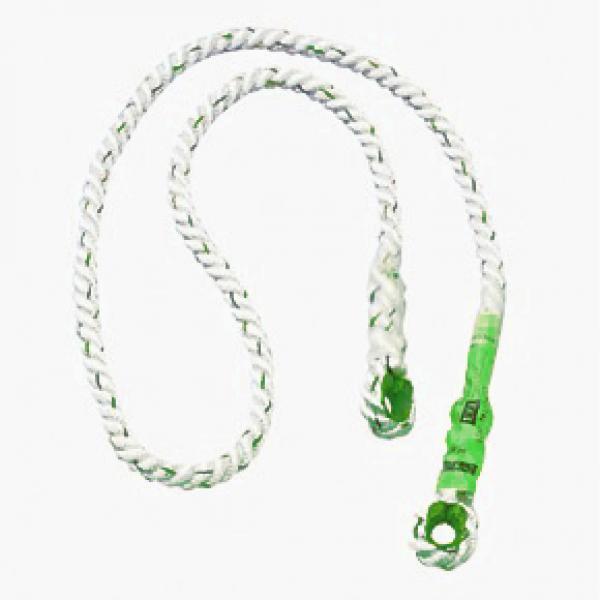 Biztonsagi kötél, fülezett kötélszívvel 5m